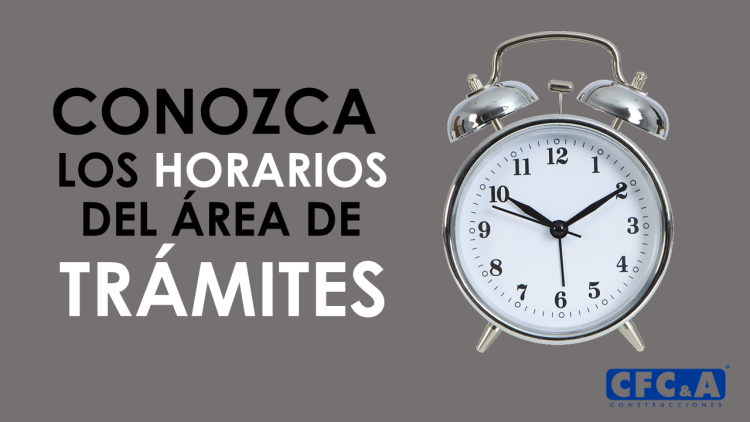 Conozca los horarios del área de trámites en Bambú
