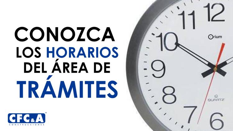Conozca los horarios del área de trámites en La Arboleda