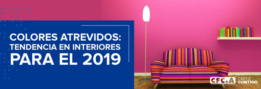 ¿Cuáles serán los colores de moda para interiores en 2019?